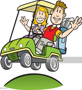 golf cart couple